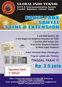 Paket pabx sahitel 3 line 8 extension