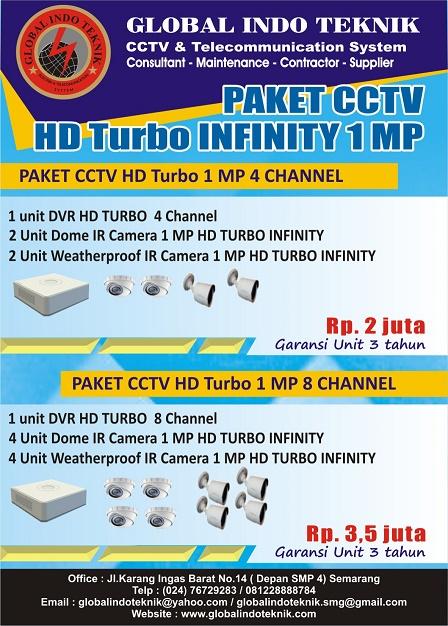 paket cctv hd turbo infinity 4 chanel & 8 chanel